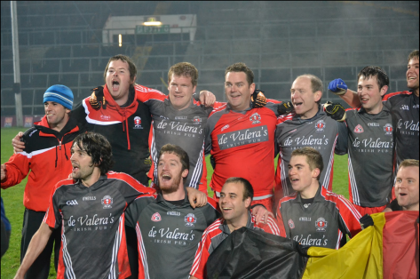 The winning Belgium Shield team in Limerick, November 2011 (photo by Caoimhe O'Sullivan)