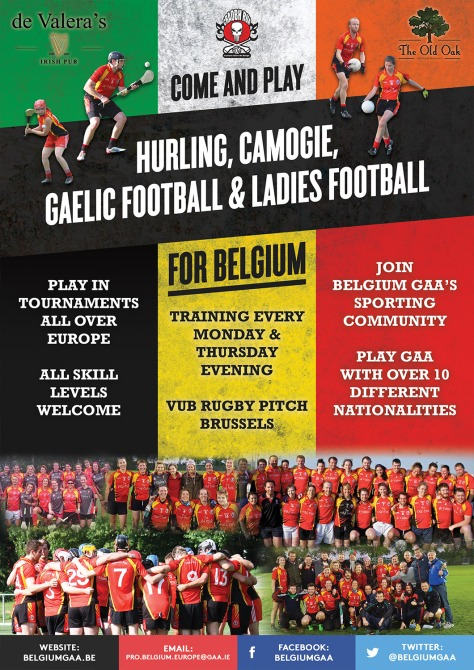 Belgium GAA are recruiting for 2016